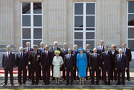 World leaders at at Chateau de Benouville in Benouville, France.