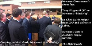 Creeping political death, Newman's faux apology