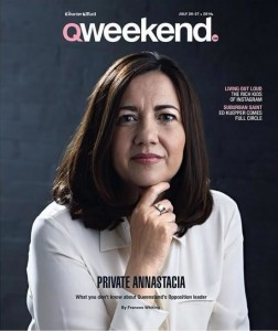 QWeekend: Feature article with Annastacia Palaszczuk.