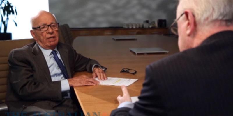 Paul Kelly from The Australian interviewing Executive Chairman of News Corp Rupert Murdoch.