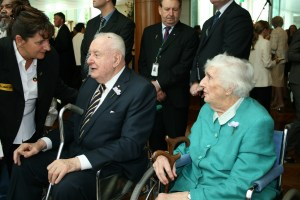Gough and Margaret at Parliament House for the national apology to the Stolen Generations in February 2008.