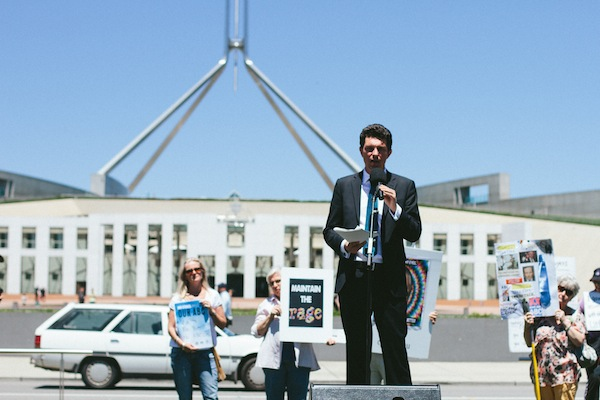 Australian Greens Senator Scott Ludlam: Photo: Jeremy Stevens