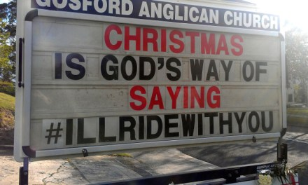 """For Fr Rod Bower (@FrBower) Christmas is the """"G"""" word, the Universal More, whispering '#illridewithyou'."""