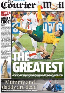 23/01/15 The Courier Mail  - That's A Policy - What A Croc!
