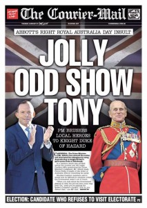 27/01/15 (bottom banner) The Courier Mail - Candidate Who Refuses To Visit Electorate