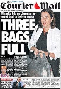 03/02/15 The Courier Mail - Minority trio shopping for sweet deal to deliver power - Three Bags Full