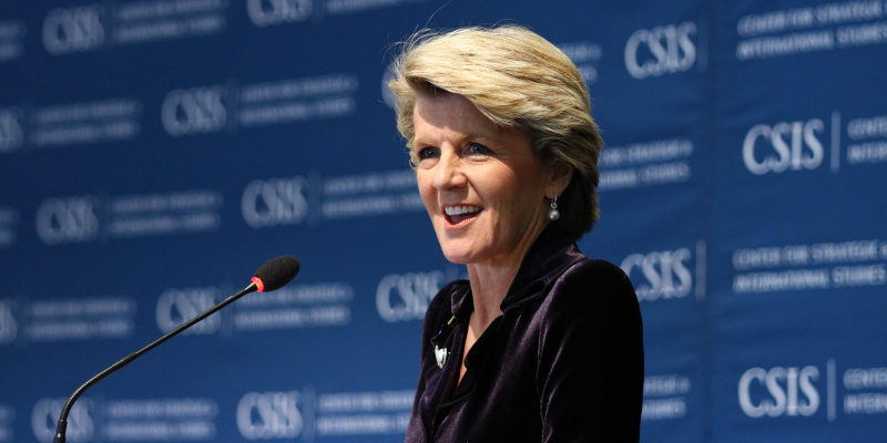 Foreign Minister Julie Bishop speaking at the US Centre for Strategic and International Studies (CSIS) on 22 January 2015. Source: CSIS Creative Commons (CC BY-NC-SA 2.0)