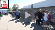 9 News Brisbane: Hundreds continue to line up daily for food.