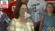 ABC News Qld: Labor leader Annastacia Palaszczuk 'optimistic' of winning majority.
