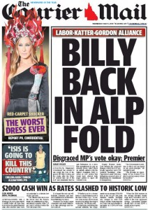 The Courier Mail - Billy Back In ALP Fold - May 6 2015.