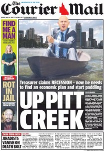 The Courier Mail - Up Pitt Creek - May 22, 2015.
