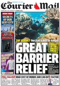 The Courier Mail - Great Barrier Relief - 30 May 2015