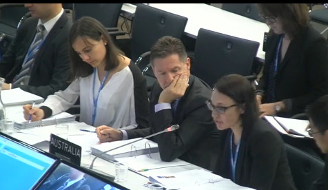 Australia at Bonn climate talks June 2015. - UN webcast