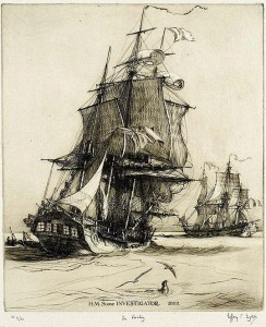 HMS sloop Investigator in 1802.