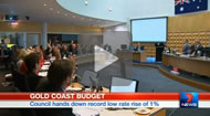 Kendall Gilding reported: Gold Coast residents will face a 1pc rate rise.