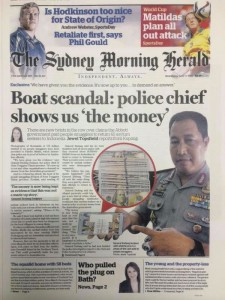 The Sydney Morning Herald - Boat scandal police chief shows us 'the money' - June, 17 2015.