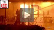 Fire at Waltzing Matilda Centre, Winton, Queensland.