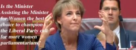 Targeting women with Michaelia Cash.