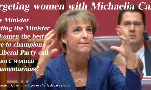 Targeting women with Michaelia Cash – @Qldaah #auspol