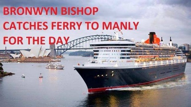 Bronwyn Bishop #ChopperGate meme. Source: Twitter