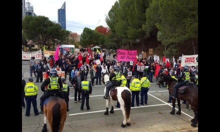 Supporters of the Anti Racist Movement face off against Reclaim Australia supporters in Perth: Rick Hoyle – Mills reports