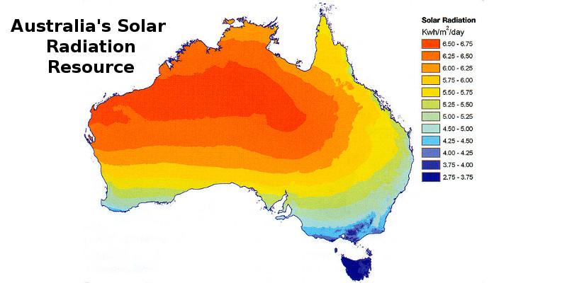 Australia's Solar Radiation Energy Resource