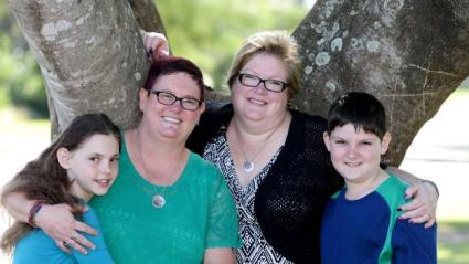 The Fisher family: Baeleigh, Monique, Adele and Caden.