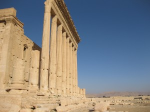 Temple of Baal Sharmin in Palmyra. IS militants blew it up on 23 August 2015