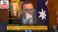Prime Minister Tony Abbott: Australia to take 12k Syrian refugees from Lebanon, Turkey and Jordan.