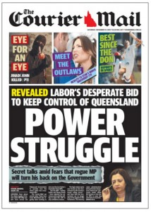 The Courier Mail: November 14, 2015 - Power Struggle.