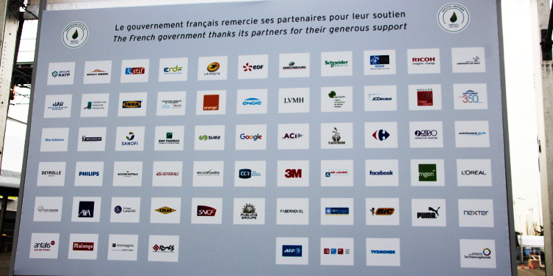 Corporate sponsors of COP21 UN Climate Conference