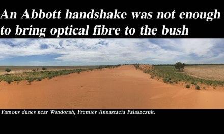 Abbott handshake not enough to bring optical fibre to the bush: @Qldaah #qldpol #auspol