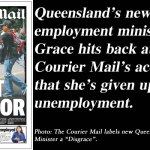 Qld Employment Minister Grace Grace hits back at Courier Mail accusations she's given up: @Qldaah #qldpol