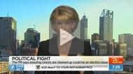 Sunrise: Michaelia Cash threatens a double dissolution election.