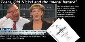 FEG, Qld Nickel and the 'moral hazard'