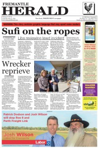 Fremantle Herald - Sufi On The Ropes, May 21, 2016.