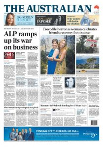 The Australian: ALP Ramps Up Its War On Business, May 31, 2016.