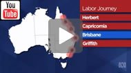 ABC News: The battlefields of Qld & NSW - Where the leaders have been so far.