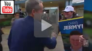 ABC News 24: Lib candidate for McEwen Chris Jermyn ambushes Bill Shorten.