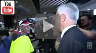 ABC News 24: Malcolm Turnbull meets Splinter the rat in a Western Sydney street walkabout.