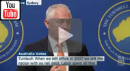 ABC News 24: Malcolm Turnbull says Coalition struggling to reduce budget deficit due to Labor.and Bill Shorten is warring on business.