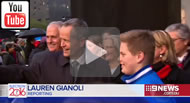 9 News: Malcolm Turnbull & Bill Shorten take part in the Long Walk.