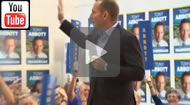 ABC News Qld: Tony Abbott launches his legacy in Warringah.