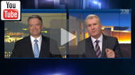 ABC 730: A heated exchange between Senator Mathias Cormann and Tony Burke over asylum seeker policy.