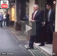 Van Badham catches Malcolm Turnbull leaving lunch at men's-only Athenaeum Club.