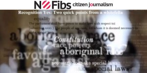 Recognition Yes: Two quick points from a whitefella.