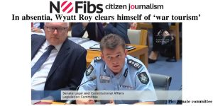 In absentia, Wyatt Roy clears himself of 'war tourism'