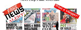 News Corp's fake wives club.