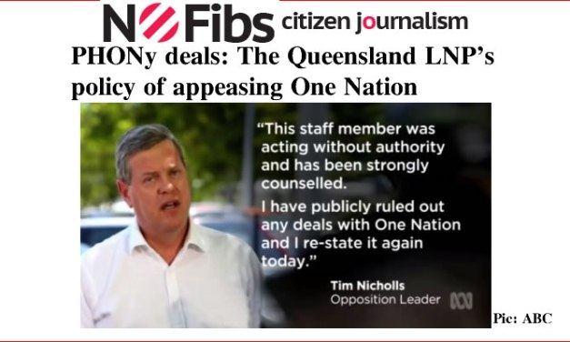 PHONy deals: The Qld LNP's path to appeasement of One Nation – @Qldaah #qldpol #auspol
