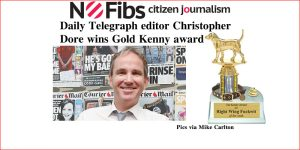 Daily Telegraph editor Christopher Dore wins Gold Kenny award